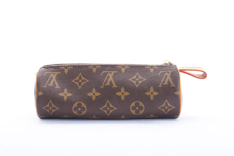 Authentic Louis Vuitton Trousse Ronde Monogram Canvas Makeup Pouch