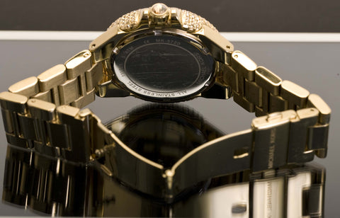 Back view of Michael Kors Camille Pave Gold-Tone Watch