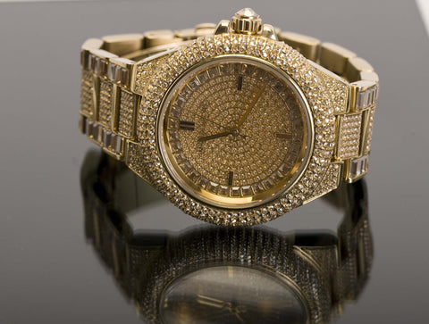 Front of Michael Kors Camille Pave Gold-Tone Watch