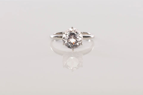 Stunning Ladies 1.97Ct Morganite Solitaire Ring in 14K