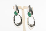 Sterling Silver and Malachite Dangle Earrings