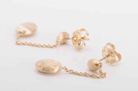 MARCO BICEGO Siviglia 18k Yellow Gold Beaded Earrings LKNW