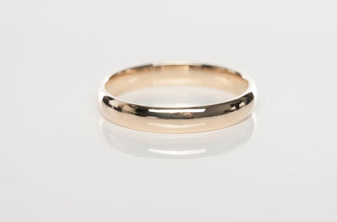 Mens Wedding Band 14KY Gold