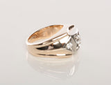 Mens 14K Gold & Diamond Wedding Ring (Past,Present,Future)