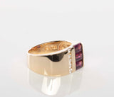 Lovely 14K Gold Rhodolite Garnet & Diamond Ring