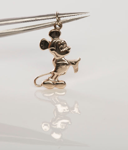 14k Gold Walt Disney Productions Mickey Mouse Pendant