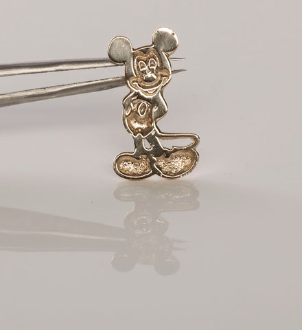 14k Gold Classic Mickey Mouse Disney Pendant