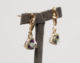 Dazzling 14K Yellow Gold Mystic Topaz Dangle Earrings