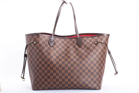 Authentic LOUIS VUITTON Neverfull GM Damier Ebene Canvas Tote