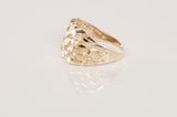 Gents 10K Yellow Gold Nugget Ring