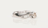 18K White Gold European Cut Diamond Engagement Ring