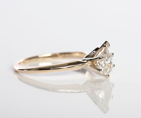 1/2ct Pear Shaped Diamond Engagement Ring