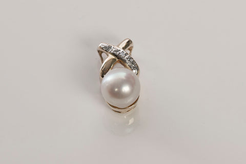 Sweet Diamond and Pearl Pendant
