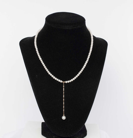 Stunning 18K & Pearl Necklace