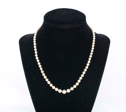 Gorgeous Graduated Choker Length Pearl Strand