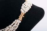 Multi Strand Pearl Choker Necklace