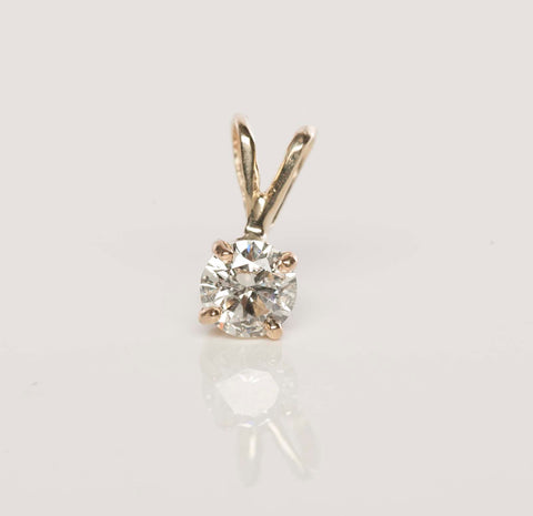 .47ct Natural Diamond Pendant 14k Yellow Gold