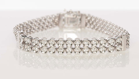 1.04CT Diamond & Platinum Bracelet