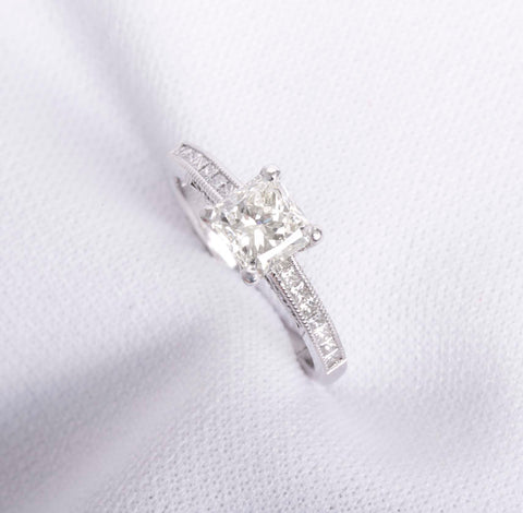 Gorgeous Tacori Radiant Cut 1.01ct Diamond Engagement Ring Size 5