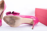 Authentic VALENTINO Patent Leather Bow Peep Toe Heels
