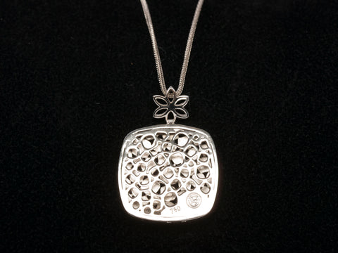 "18K White Gold Abstract Necklace 18"" (STAMPED RH)"