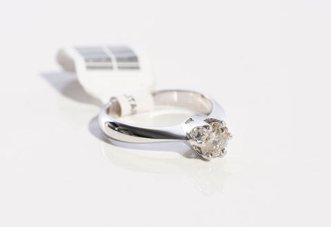 14KW 1/2CT Round Diamond Solitaire Engagament Ring
