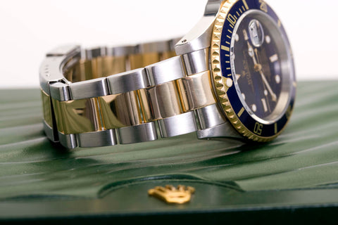 Rolex Submariner Two Tone Blue Dial