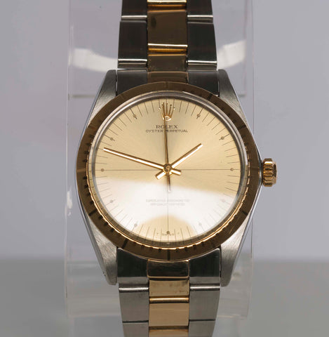 Authentic 1980 Vintage ROLEX Zephyr Two-Tone Oyster Perpetual Watch
