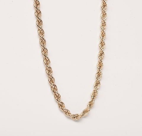 14K Yellow Gold Rope Chain 20.5""