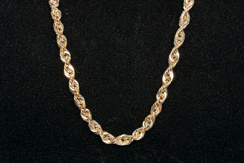 "10k Yellow Gold 22"" Rope Chain"