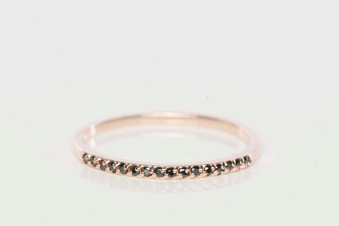 14k Rose Gold Black Onyx Band