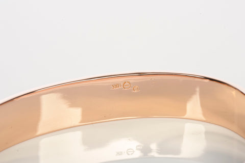 Contemporary Solid Rose Gold Bangle 18k 56.6 grams Size 6 1/2