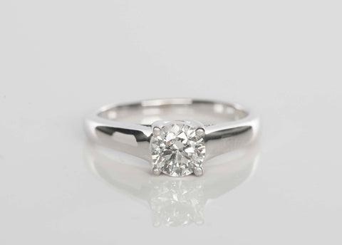 GRADED .72CT Round Solitaire Diamond Ring