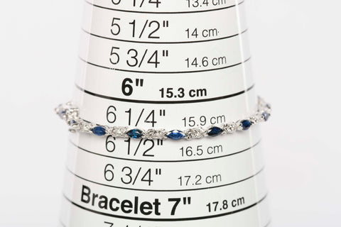 Gorgeous 14K Diamond and Sapphire Tennis Bracelet