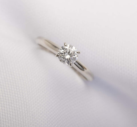 Solitaire Engagement Ring .46ct diamond