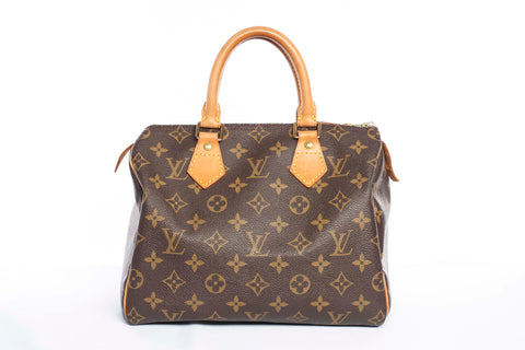 Authentic LOUIS VUITTON Speedy 25 Monogram Handbag