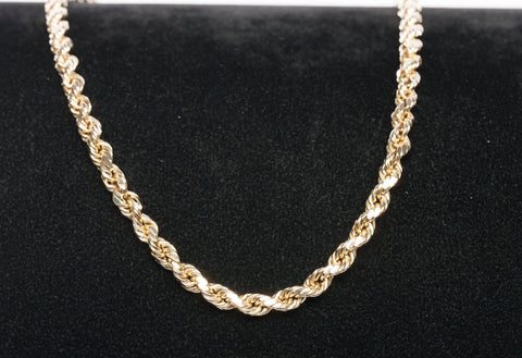 "10k Yellow Gold 28.5"" Gold Chain Necklace"