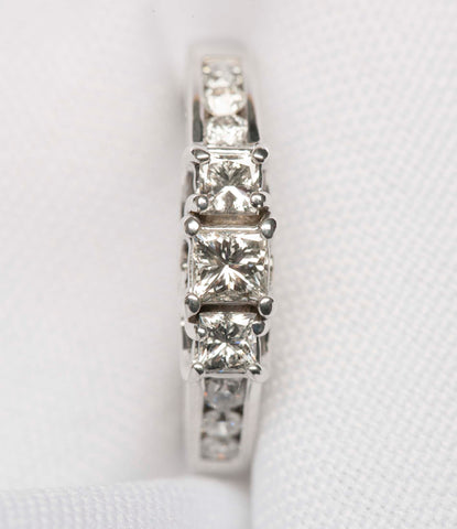 14K White Gold 3-Stone Engagement Ring