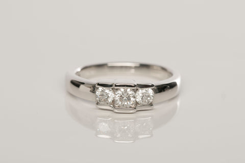 Ladies Engagement Diamond Ring .55 TCW 14KW Gold Size 7 1/4""