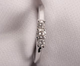 Past Present Future Engagement Ring 14k White Gold Size 6