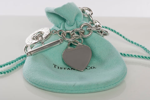 Tiffany & Co Sterling Silver Heart Tag Toggle Bracelet