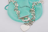 Authentic Tiffany & Co Heart Tag Toggle Necklace