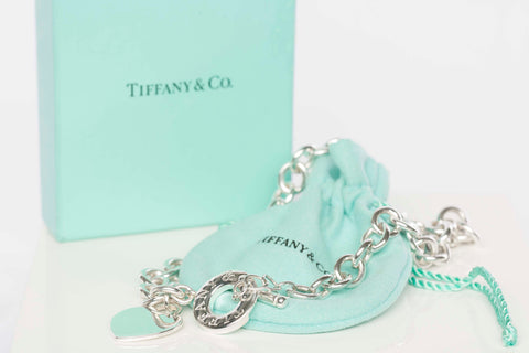 Authentic Tiffany & Co Heart Tag Toggle Necklace w/ Box