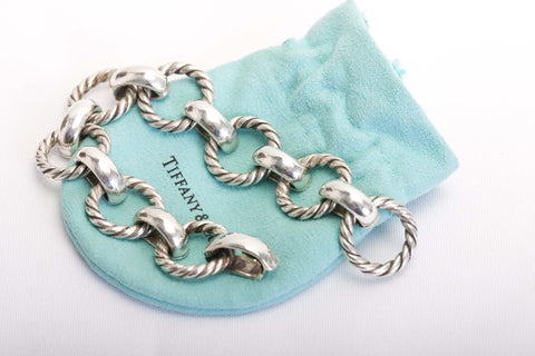 Vintage Tiffany & Co. Rope Cable Link Bracelet Silver