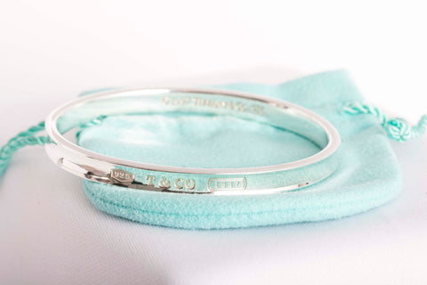 Tiffany silver bangle