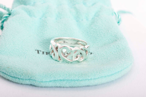Authentic Tiffany & Co Paloma Picasso Loving Heart Ring Size 5.5""