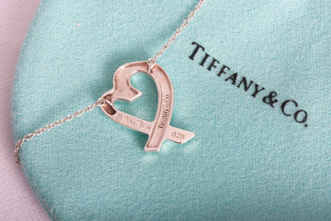 Authentic Tiffany & Co Paloma Picasso Loving Heart Necklace SMALL
