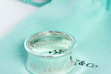 Authentic TIFFANY & CO Sterling Silver 1837 Concave Wide Band Ring