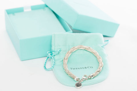 Authentic TIFFANY & CO. Rare Narrow Somerset Braid Bracelet