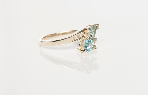 Topaz .06 TCW 14K Gold Ring